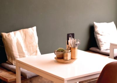 Brew and Tucker   Coffee Shop Frodsham   Table